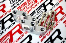 Silver Yamaha Virago XV250 VX500 VX535 Handlebar Bar Risers Relocators Adapters