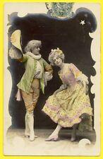 cpa Dos 1900 FANTAISIE Art Nouveau EDWARDIAN FASHION for WOMEN Série ETOILE