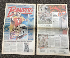 "1983 & 1985 USFL Tampa Bay Bandits Lot of Newspapers ""Birth of The Bandits: etc."