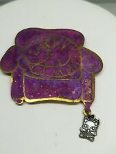 Pin Big Purple Couch with Outline Cat Mouse Hanging On