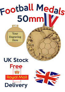 Football  Medals, Free Engraving, Free Postage.