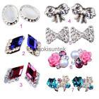 10pcs 3D Nail Art Decoration Alloy Jewelry Bow Flower Glitter Rhinestones