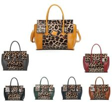 Fashionable PU Leather Women tote Handbag/ladies Plastic Leopard Skin Print bag