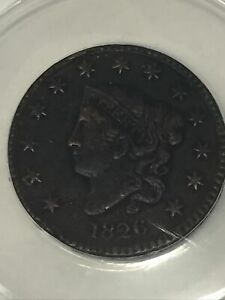 1826 Large Cent 1c Coin ANACS VF 30 Details Corroded