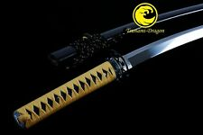Handmade Clay Tempered L6 steel Japanese Samurai Katana sword razor sharp Suguha