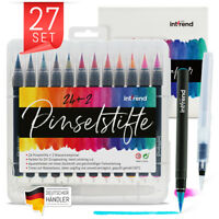 Pinselstifte Set 24+2 Aquarell Farben Kalligraphie Hand-Lettering Bullet Journal