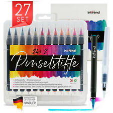 Pinselstifte Set 24+2 Aquarell Farben Kalligraphie Hand-Lettering Bullet Journal