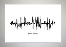 Avicii - Heaven - Sound Wave Print Poster Art