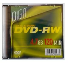1X DVD-RW 4.7GB 120MIN riscrivibile CON SLIM BOX  disco ottico DVD
