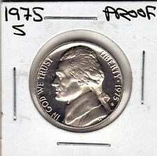 1975 S Jefferson nickel in Proof condition