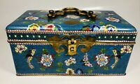 Antique Circa 1900 Chinese Cloisonne Enamel on Bronze Jewelry Trinket Box