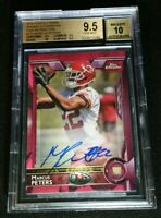 BGS 9.5/10 MARCUS PETERS RC AUTO /75 *POP 7 ROOKIE w/ 1/1 SUBS 2015 Topps Chrome