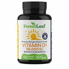 Vitamin D3 50000 IU Dietary Supplement Health Body Immune Care Bottle 120 Caps