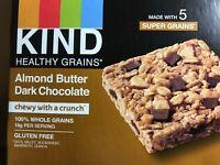 KIND Healthy Grains Granola Bar, Gluten Free Almond Butter Dark Chocolate,6.2oz.