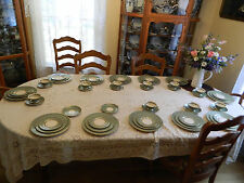 """Franciscan China Gladding McBean & Co. """"Concord"""" 58 Pieces Dinnerware bw1-2"""