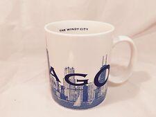 2002 first series Starbucks Chicago Windy City Skyline Barista coffee mug
