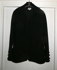 HAUTE COUTURE CHIC VALENTINO BLACK JACKET PEPLUM WITH BELL SLEEVES