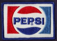 New Vintage Pepsi Cola Logo Embroidered Sew on Patch 2 7/8 X 2 1/4 NOS