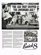 1936 BIG Vintage Buick 8 Roadmaster Sedan Car Automobile Photo Print Ad