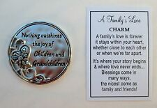 b Nothing outshines joy of Children Grandchildren A Family's Love POCKET CHARM