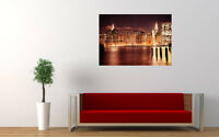"""MANHATTAN NIGHT NEW GIANT LARGE ART PRINT POSTER PICTURE WALL 33.1""""x23.4"""""""