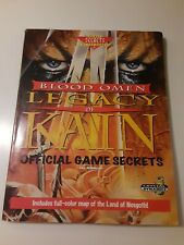 Blood Omen Legacy of Kain Official Strategy Guide Prima Game Secrets plus map