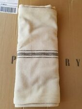 """Pottery Barn Rustic Stripe Table Runner 18"""" Charcoal #3569"""