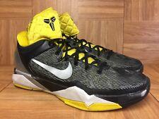 e76f43b8b23f RARE🔥 Nike Kobe 7 Supreme VII Black Silver Gold Lakers 488244-001 Shoes Sz