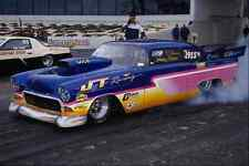metal sign 573033 a custom '56 chevy cleans and heats its big back tires a4 12x8