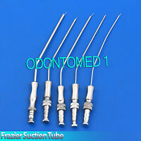 5 Pieces Frazier Suction Tube 5, 6, 7 ,8, 11Fr Angled