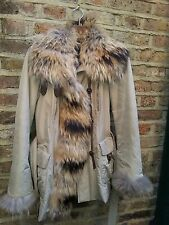 "Womens Visconf real fur ski jacket 42/38"" Beige"
