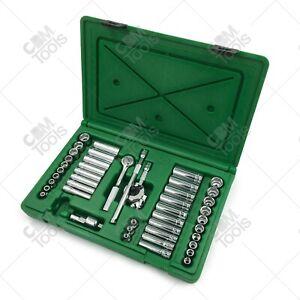 "SK Hand Tools 91848 48pc 1/4"" Dr. Deep / Standard Metric / Fractional Socket Set"
