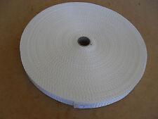 INDUSTRIAL POLYPROPOLENE WEBBING WHITE 50 MTR ROLL 25MM 1 INCH