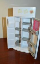 Mattel Barbie Plastic Furniture 1994 White Refrigerator Pull out shelves/drawer