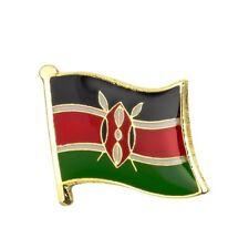KENYA KENYAN FLAG METAL AND ENAMEL PIN BADGE BRAND NEW FREE POST