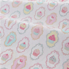 One PCS Cotton Fabric Pre-Cut Cloth Fabric for Sewing Ice Cream Cake Pattern G5