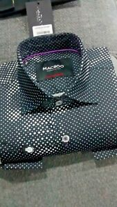 NWT Maceoo men's men's size M long sleeve button down shirt, Fabonicci skull/geo