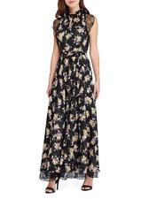 19863e6e74b6 Tahari ASL Lace Beige Gold Embellished Maxi Dress Gown Size 16