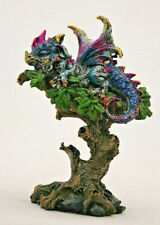 kleiner bunter Drachen schlafend Fantasy Figur 14 cm hoch