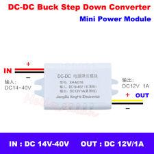 Mini DC-DC Buck Step Down Volt Converter 15V-36V 18V 24V to 12V 1A Power Module