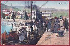 CROAZIA LAURANA 08 Hrvatska LOVRAN LOVRANA - BATTELLO Cartolina viaggiata 1922