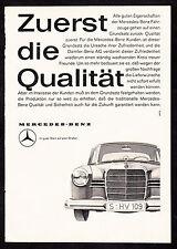 3w2098/ Alte Reklame von 1960 - MERCEDES BENZ