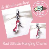 New Authentic Genuine PANDORA Red Stiletto Hanging Charm - 792154EN09 RETIRED
