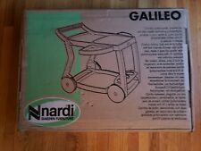 Nardi Galileo Outdoor Folding Food and Drink Trolley w/ bottle rack in White New