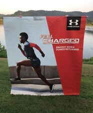 Under Armour Manteo Mitchell Vinyl Rafter Arena Banner Sign Poster Advertising