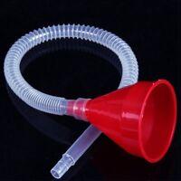 Hot Car Plastic Filling Funnel With Transparent Pipe Pour Liquids Tool G9C
