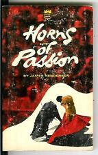 HORNS OF PASSION by Henderson, rare US Brandon sleaze bullfight pulp vintage pb