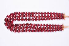 Rubylite Pink Quartz 3 String Oval Beads Necklace 10 x 12 To 15 x 18 MM Approx