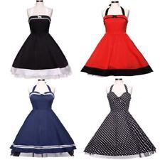 Optik 50er festliche ärmellose Damenkleider