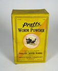 full box PRATTS WORM POWDER Veterinary Medicine box POULTRY ROUND WORMS Philly